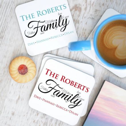 Personalised Family Definition Coasters